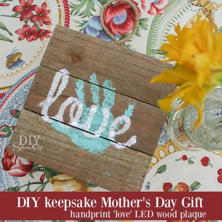DIY keepsake handprint Mother's Day gift