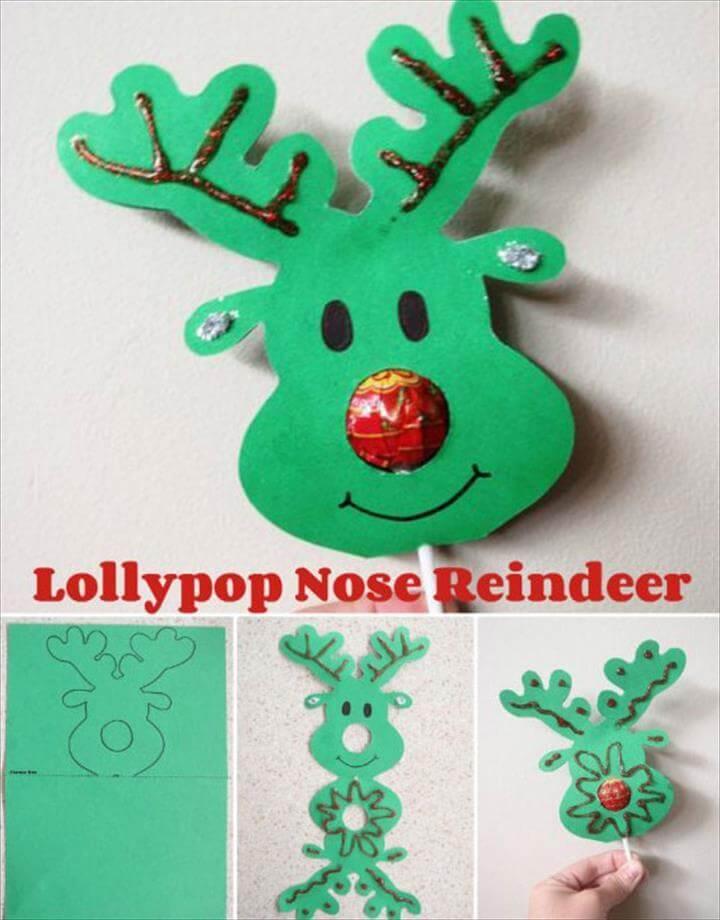 Lollypop Nose Reindeer