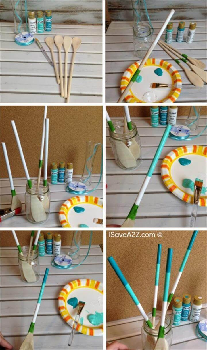 DIY Mother's Day Gift Idea: Painted Wooden Spoons