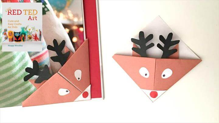 Easy Reindeer Bookmarks for Christmas