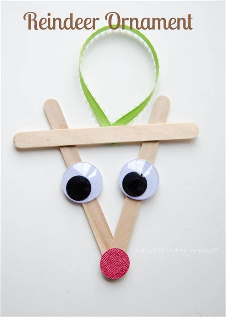 Melted Bead Ornaments, Popsicle Stick Reindeer Ornament