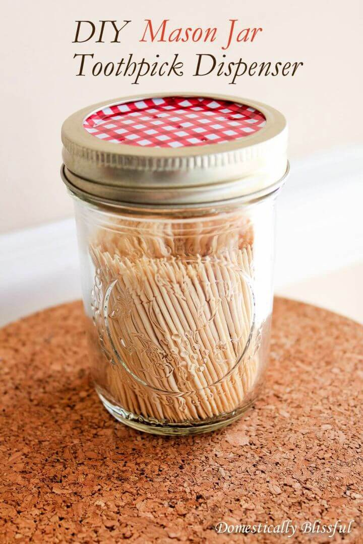 toothpick mason jars, mason jar kitchen, ideas, diy, do it yourself,