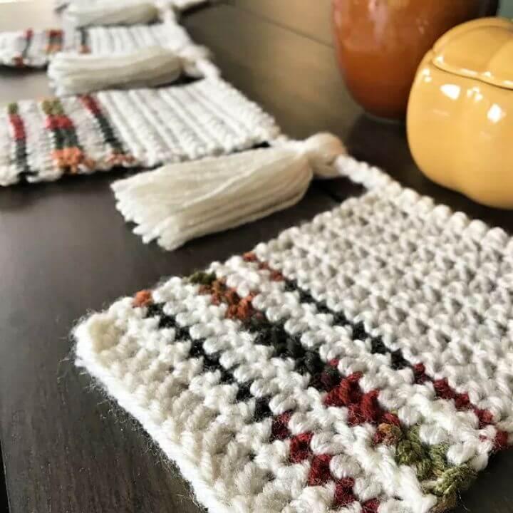 easy crochet bunting, free patterns, crochet hats, crochet free patterns,