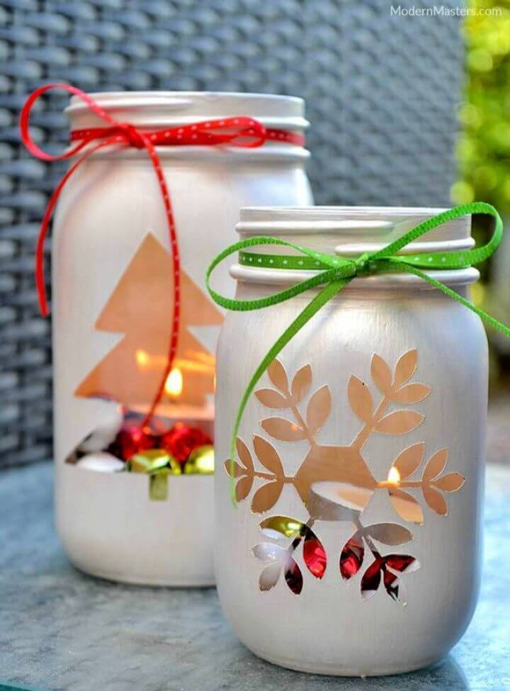 mason jars, christmas mason jars, christmas decor ideas, christmas mason jar idea,