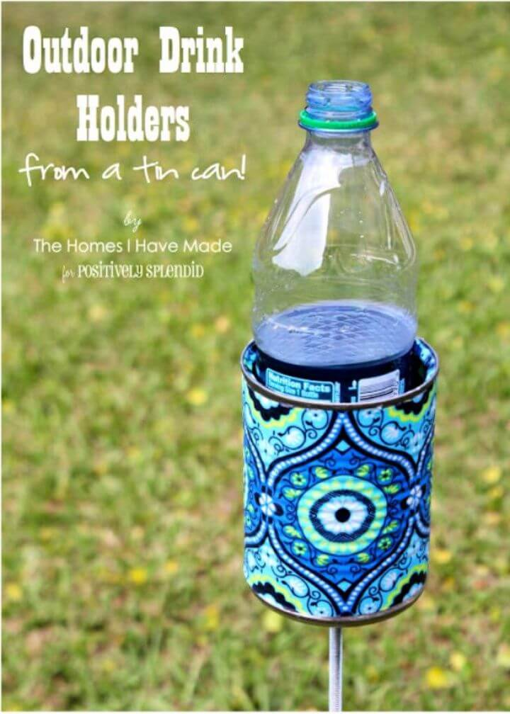 drink holder, tin cans, diy ideas, diy crafts, crafts from tin can, wasted,