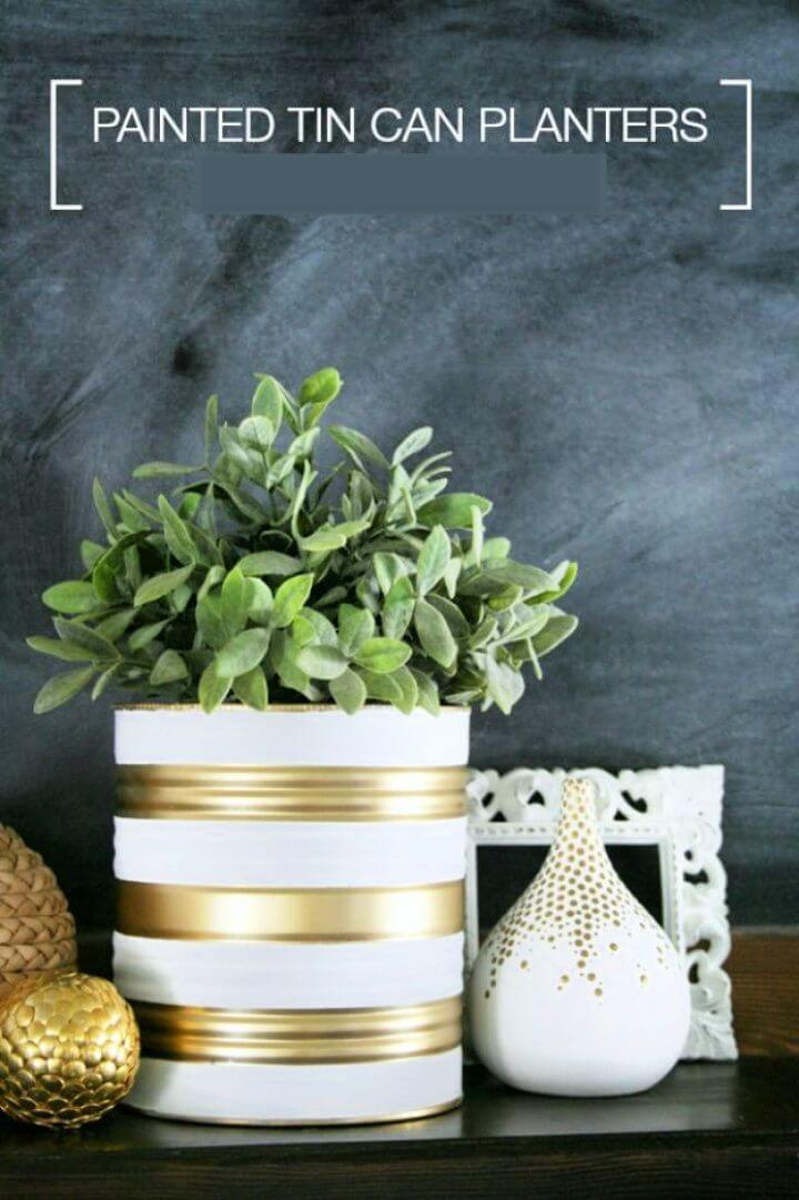 painted tin cans, planters tin can, tin can garden, decor ideas, garden decor, home decor,