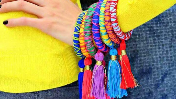rope and tassel, bangles, diy crafts for teenage girls,