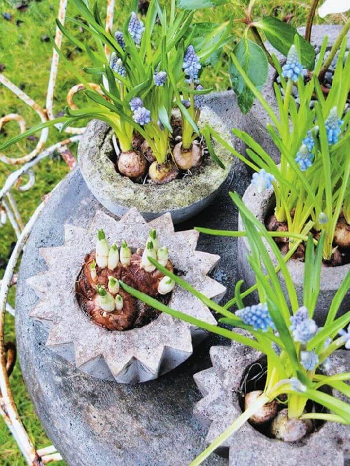 stone pot, planter for garden, garden decor ideas, garden projects,