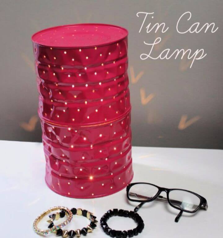 tin can lamps, tiin can lampshade, diy ideas, do it yourself, how to crafts, diy ideas, diy projects,