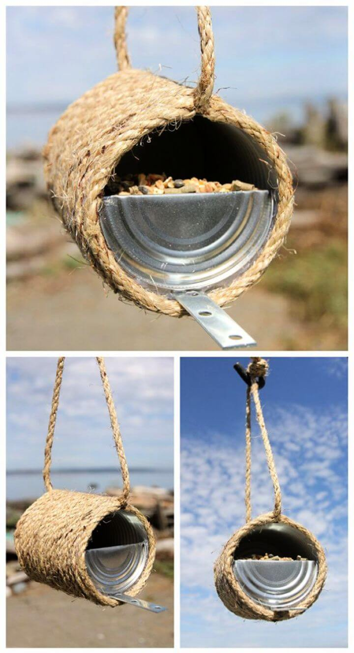 tin can tope, bird feeder, ideas, bird feeder from tin cans, how to crafts, diy ideas, diy projects,