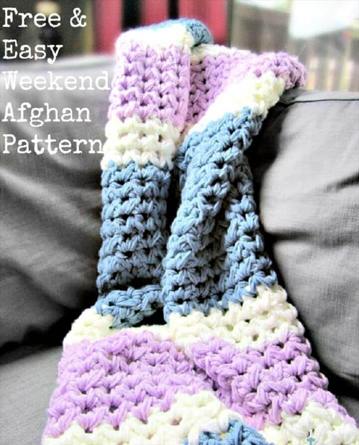 weekend crochet ideas, crochet patterns, crochet afghan patterns, crochet blankets, for beginner,