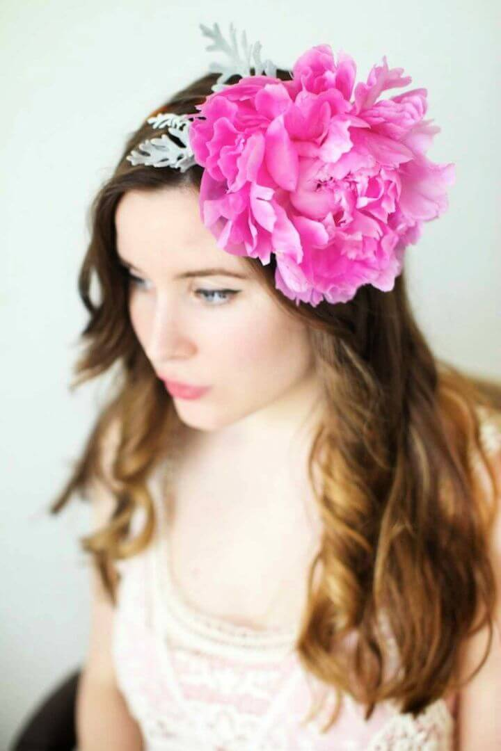 real flower headband, diy tutorial projects, teenage girls crafts,