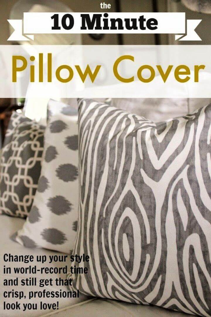 10 Minute DIY Pillow Cover For Home Decor
