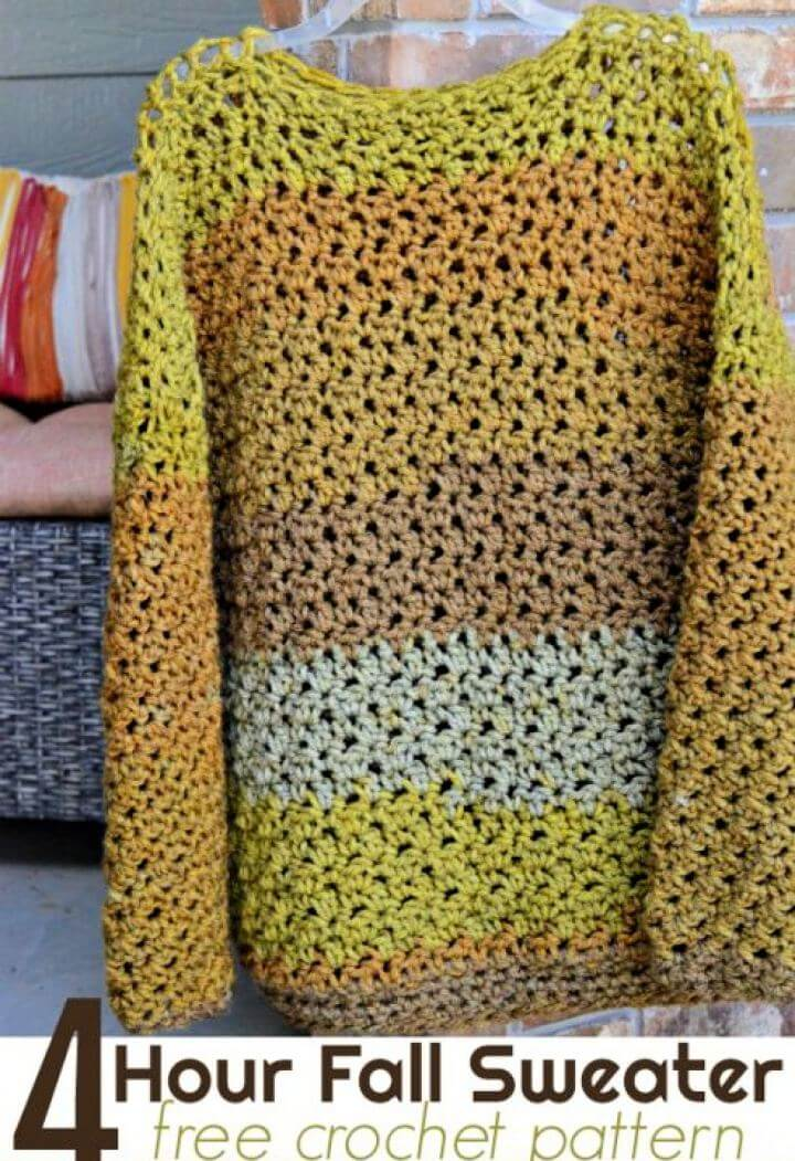 4 Hour Fall Sweater Free Crochet Pattern