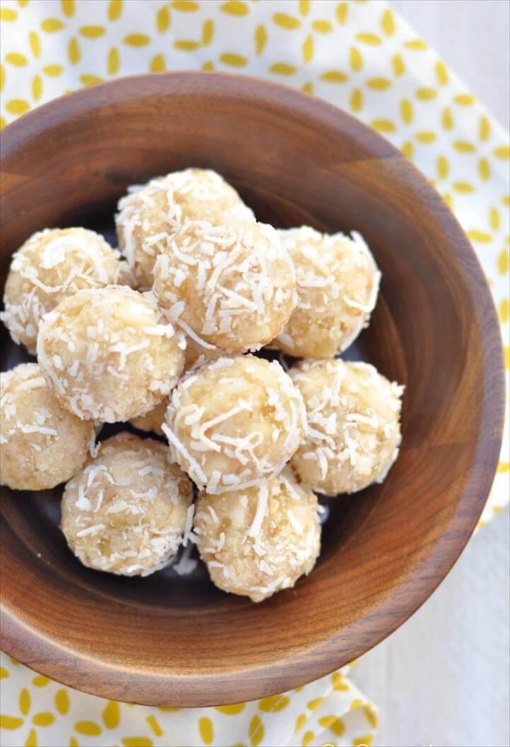 Aloha Energy Protein Balls - coconut, pineapple, macadamia nut, and vegan protein powder