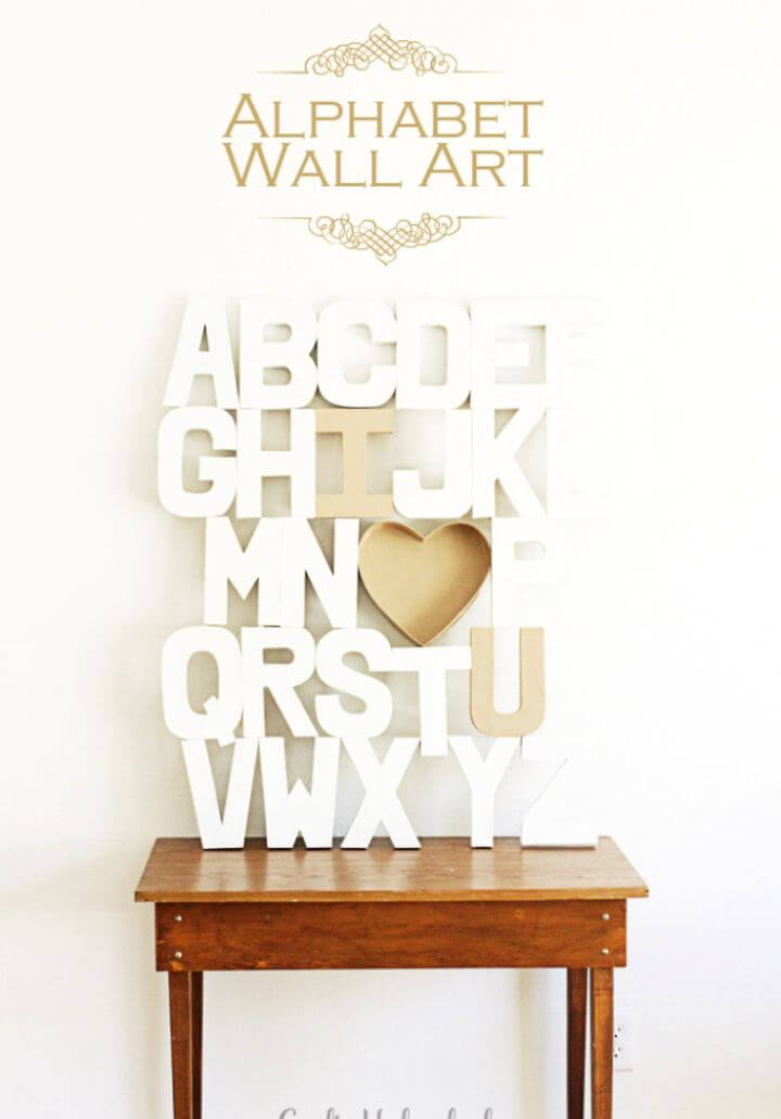 Alphabet DIY Wall Art Tutorial
