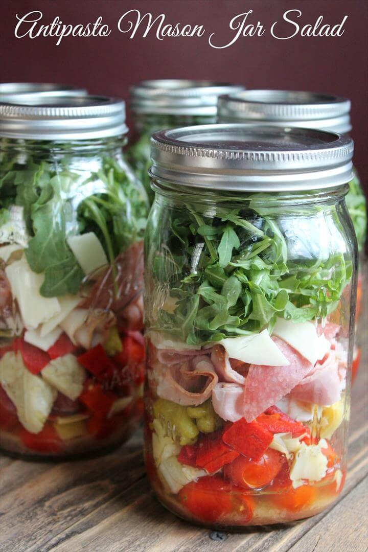 Antipasto Mason Jar Salad