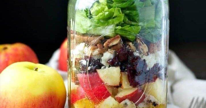 Apple Harvest Mason Jar Salads