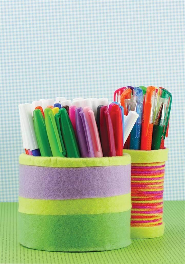 Back To School DIY Pencil Holder