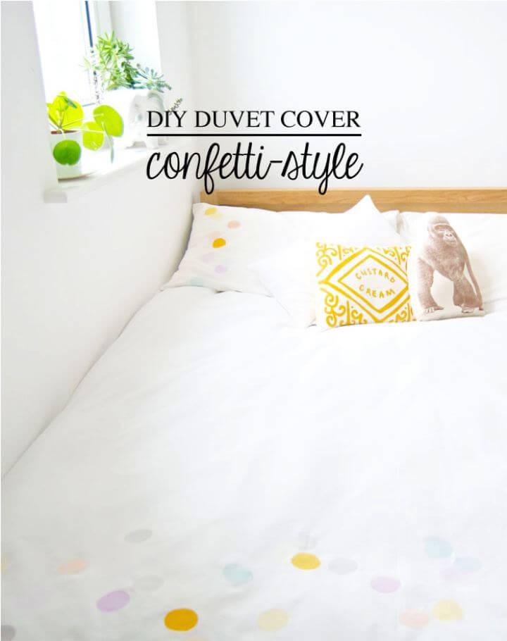 Beautiful DIY Duvet Cover For Room