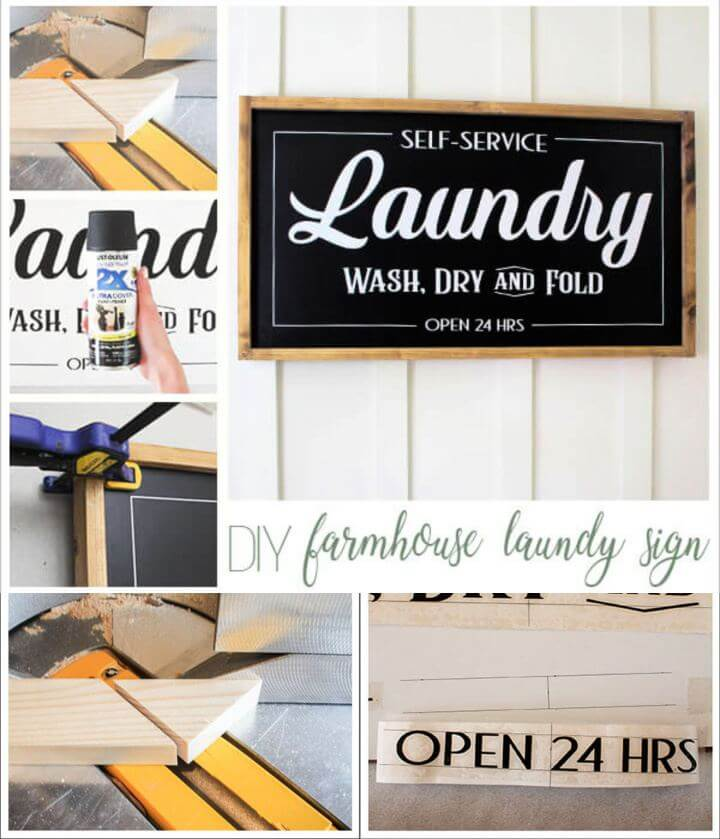 diy farmhouse laundry signs, home improvement, happiness signs, do it yourself,