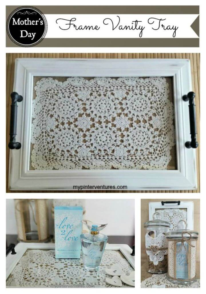 Beautiful DIY Frame Vanity Tray Tutorial