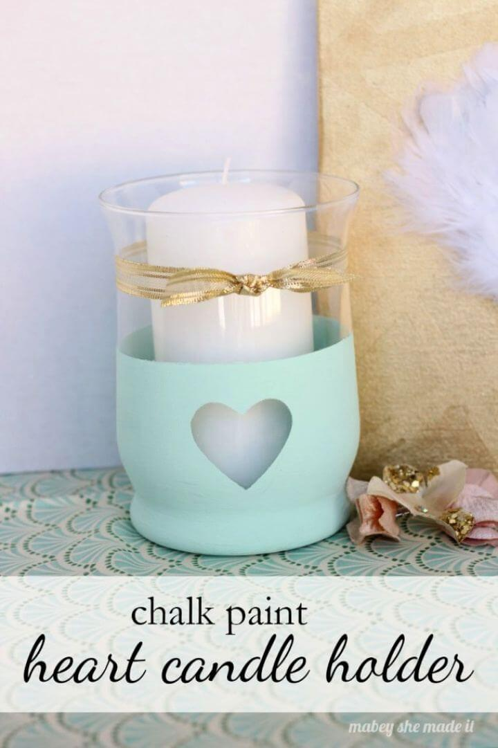 Beautiful DIY Heart Candle Holder