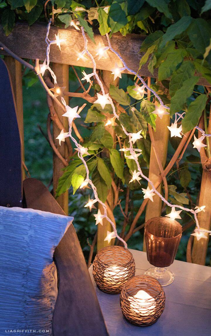 Beautiful DIY Outdoor Starry Lights For Starry Nights