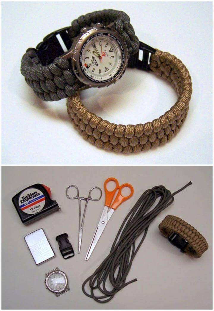 Beautiful DIY Paracord Watches Gift For Him