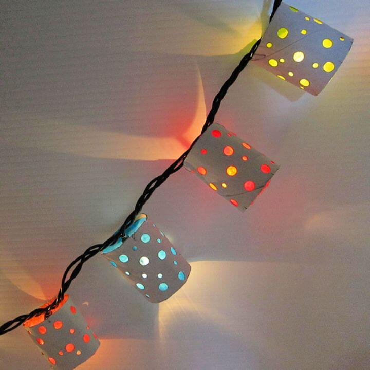 Beautiful DIY Polka Dot Paper Outdoor Light