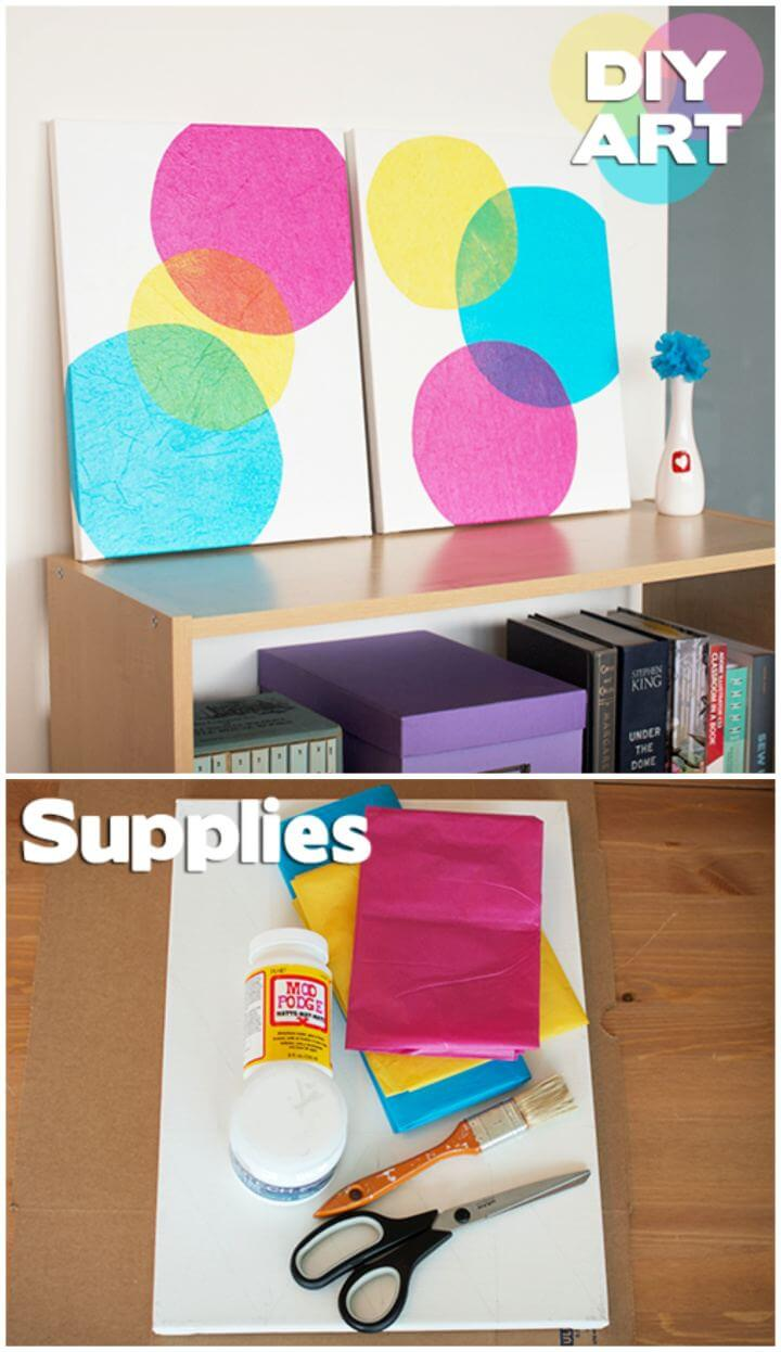 Beautiful DIY Wall Art Bubbles