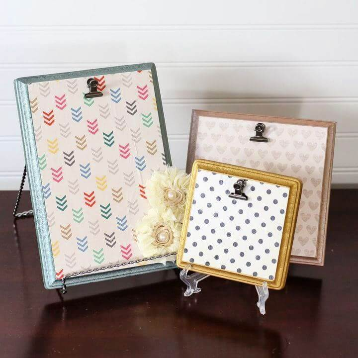 Beautiful DIY Wood Plaque Picture Frames
