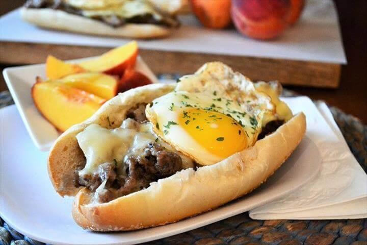 Philadelphia Cheesesteak Breakfast Sandwiches