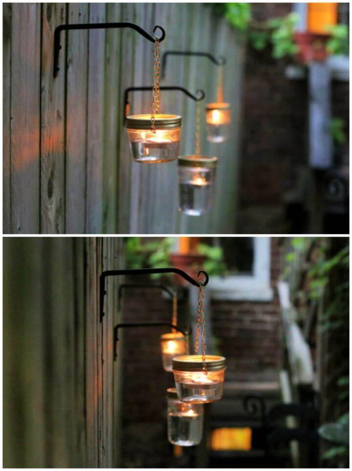Build A DIY Hanging Mason Jar Lights