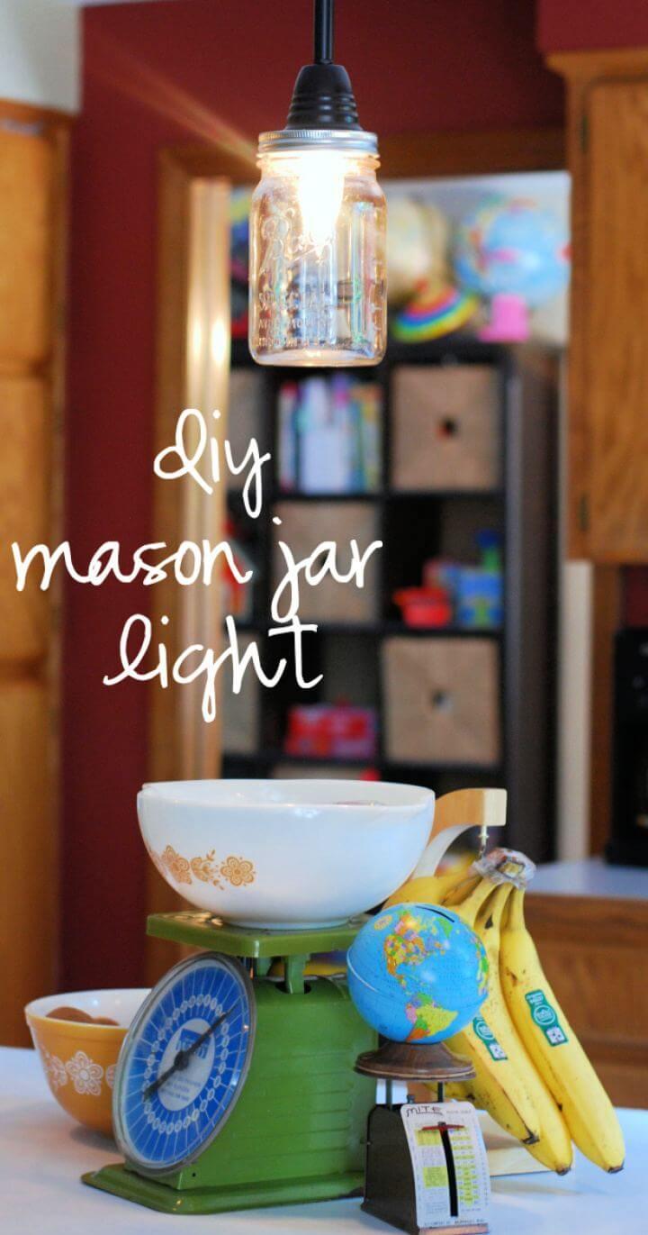 Build A DIY Mason Jar Pendant Light