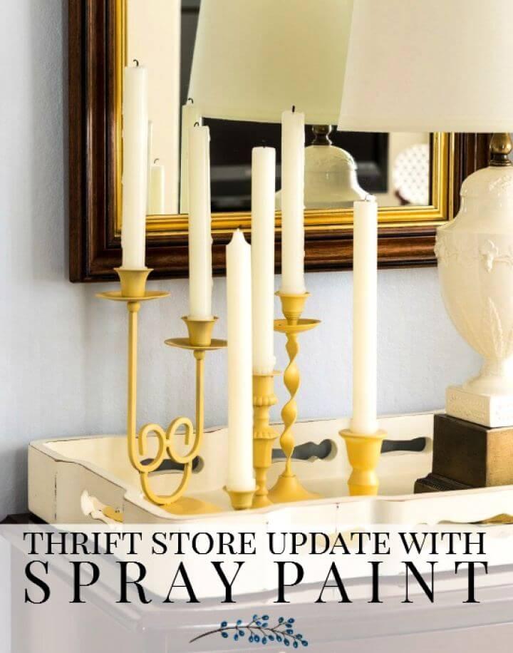 Build A DIY Thrift Store Candlesticks