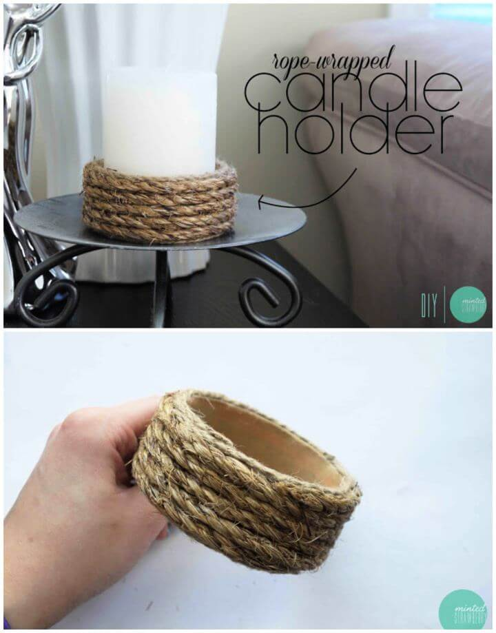 Build A Rope Wrapped Candle Holder