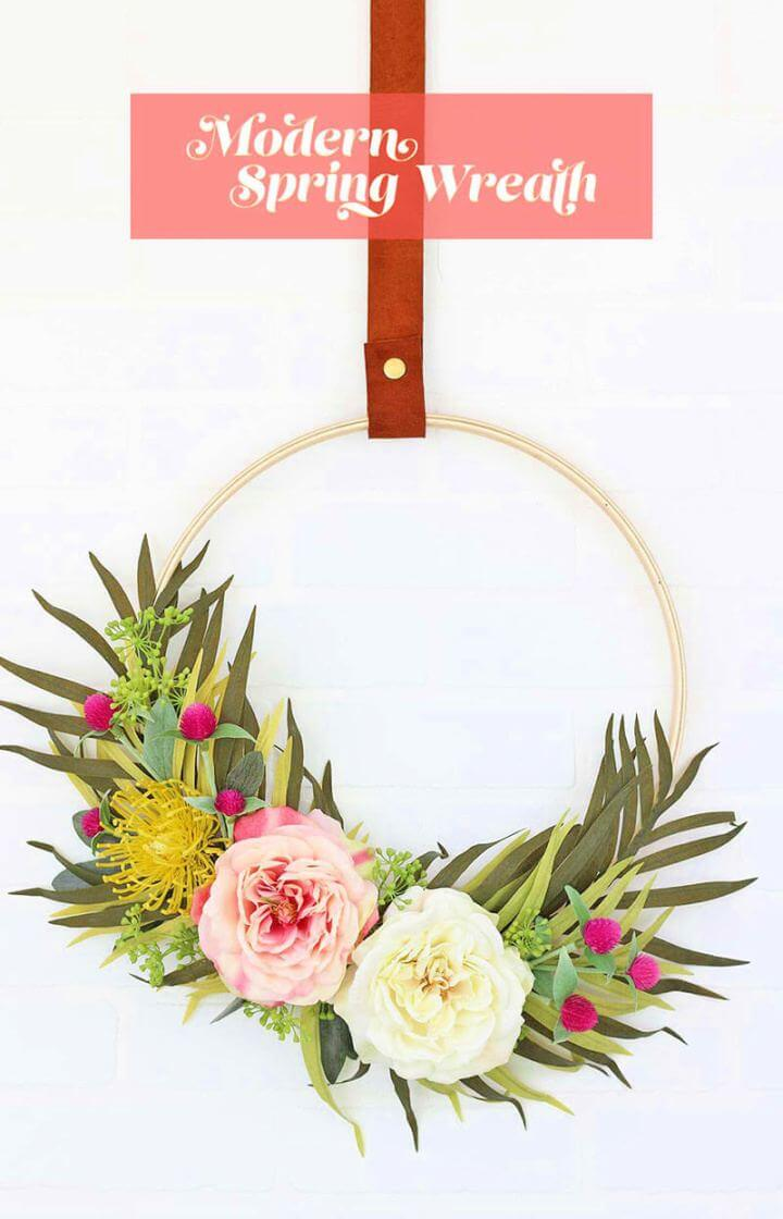 Build Your Own Diy Modern Spring Wreath