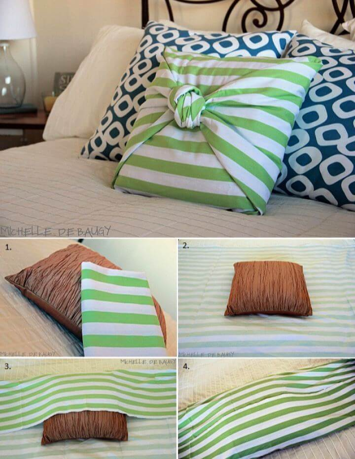 Build Your Own No Sew Pillow Case