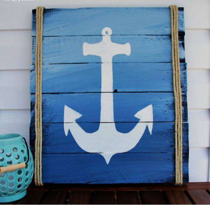 Build Your Own Pallet Anchor Sign for Our Deck