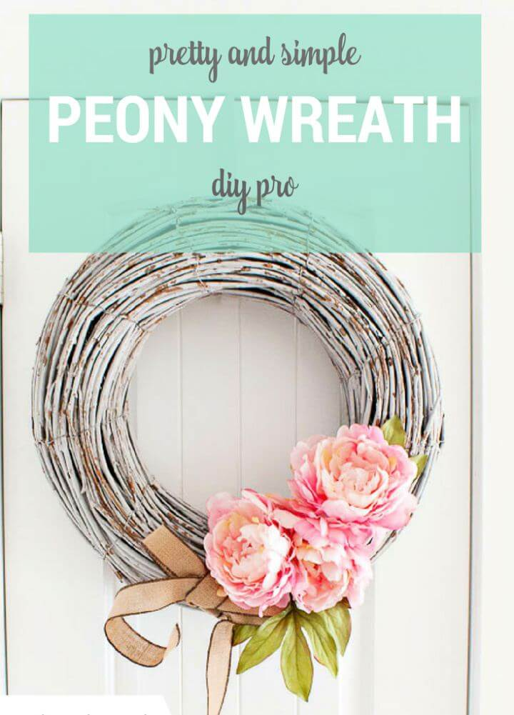 Build Your Own Peony Spring Wreath