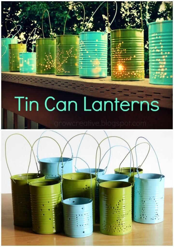 Build Your Own Tin Can Outdoor Light Tutorial