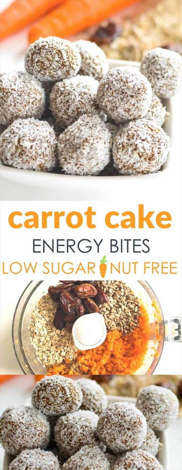 Carrot Oat Energy Bites Healthy Kids Snack