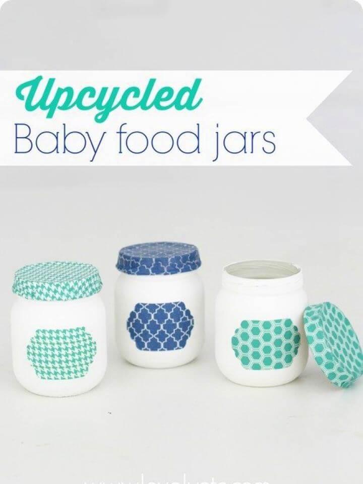 Charming Upcycled Baby Food Jars