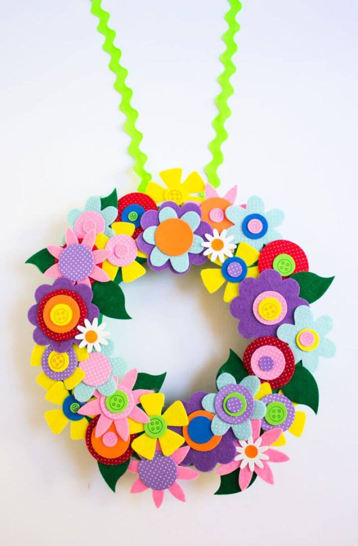 Colorful DIY Spring Flower Wreath