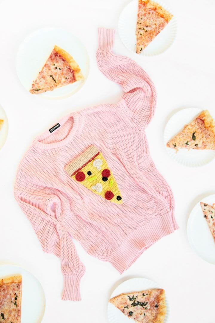 Create A Crochet Pizza Sweater