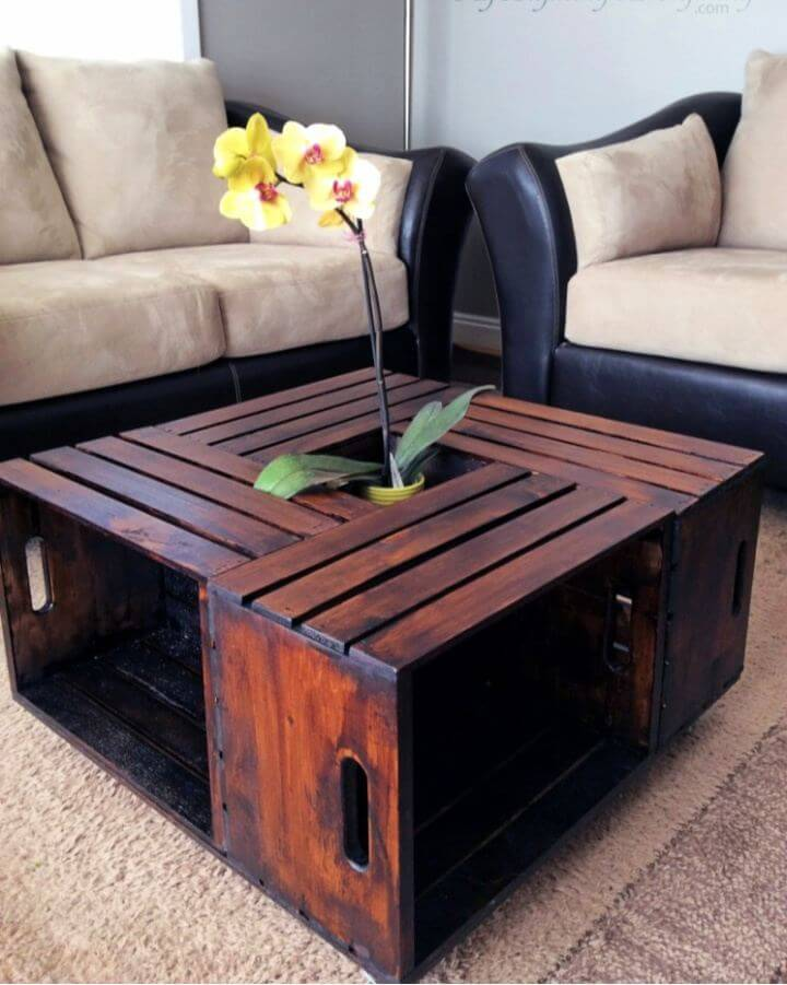 Create A DIY Crate Coffee Table For Living Room