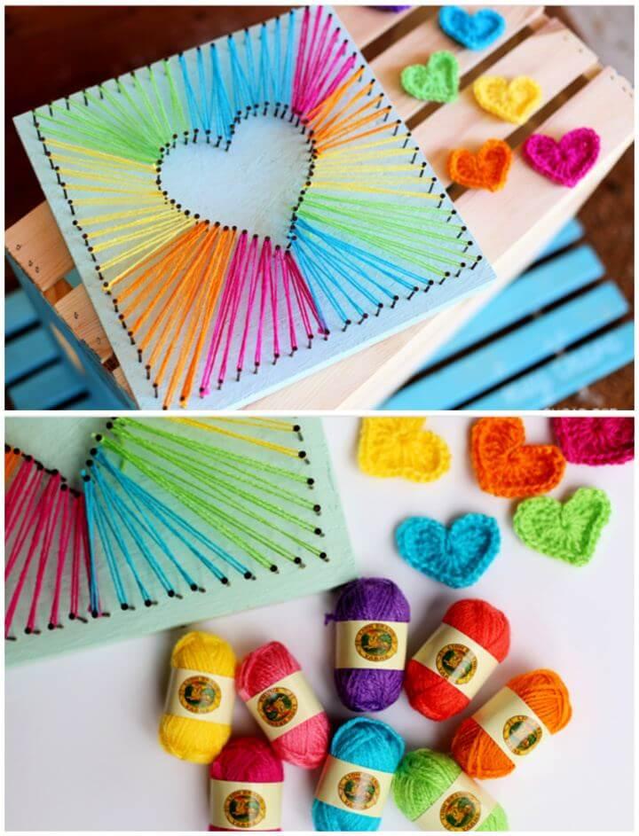 Create A DIY Heart String Art