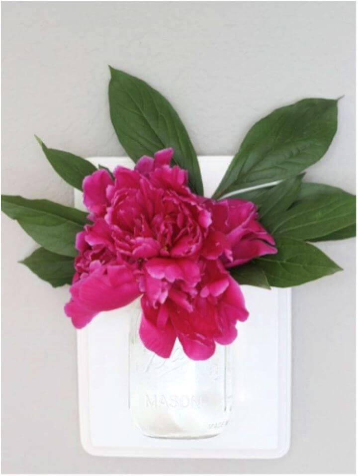 Create A DIY Mason Jar Wall Hanging Vase