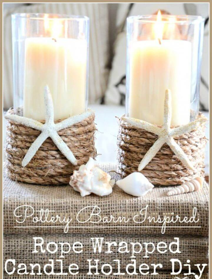 Create A DIY Rope Wrapped Candle Holders